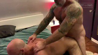 Two daddy fuck young man